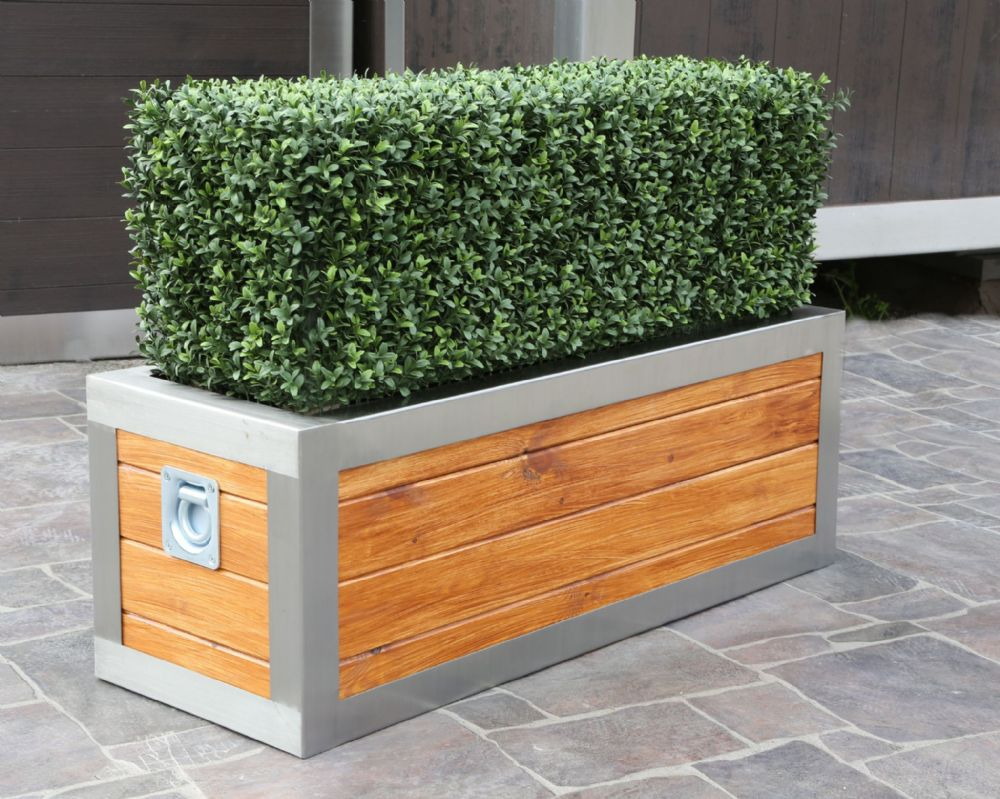 Stainless Steel Frame Trough Planter From Potstore Co Uk